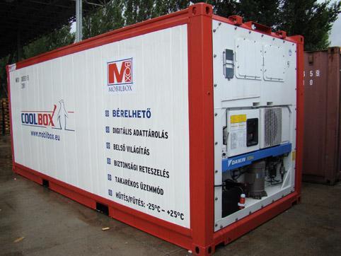 Chladiaci kontajner na prenájom